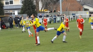 Uttoxeter's youthful players did not lack energy or drive. A delightful display of soccer developed.