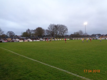 First half and the first goal to Pelsall