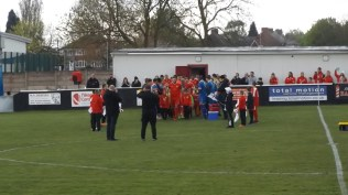 A guard of honour to welcome both teams and WWFC mascots on to the field. A very special day.