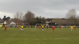 First half and Uttoxeter score a well- deserved goal. Ouch. How would the Wood respond?