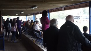 Nearly half time and the pace is relentless, leaving supporters enthralled., and near the bar