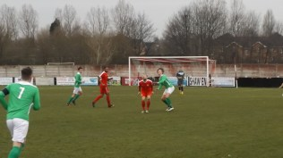Later in the second half and the Wood are eager to score their third goal, bringing the inevitable close marking.