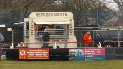 Burgers, hot dogs, tea. This is Walsall Wood , Oak park…and home for the Junior Saints, too. A Community football club