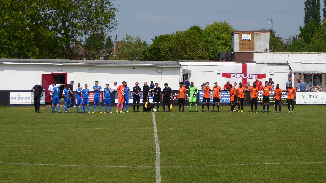 Last match and the only time the teams faced the stand. Walsall Wood played in blue