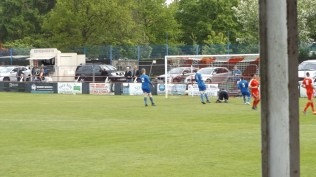 Early first half and first goal to the Wood. They were to win by twelve goals to nil today.