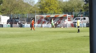 Nuneaton's youthful goalkeeper gave an outstandingly courageous performance this afternoon, bringing frequent appreciative applause from all the spectators.