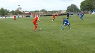 Nearing half time, and one of the Wood's attacking line in action! Hypnotic skill.