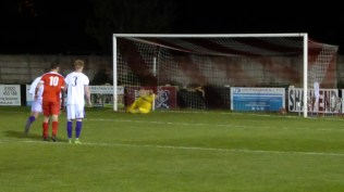 Final part of the game. Penalty to the Wood and the crack shot leaves the poor Cadbury goalkeeper on his seat. Five goals to two now.