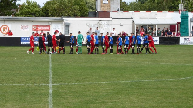 A bright summer afternoon and the Wood's third game in a week, following the two clattering cup ties recently. The welcome visiting team from Ilkeston wore mid blue strip for this match