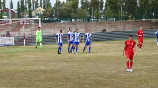 Worcester celebrate their first goal as the Wood regroup, metaphorically pulling up their socks. How will they respond ?
