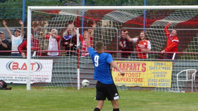 Second half and a breakthrough, sadly for Ilkeston, following a deft interception of a slack defending pass by a battle- weary player. But, elation for the Ilkeston away supporters, who made their presence known, one way or another.