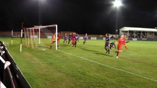 The magic that is the Wood is now bearing down on the Loughborough goal, again and again. Second half.