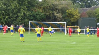 First half and Uttoxeter fire an excellent snapshot to gain a well-deserved equalising goal.