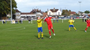 Second half and a deceptive photo. The game was sporting and positive and devoid of malice