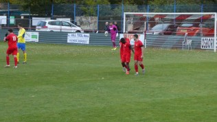 The briefest of celebrations then back to work for the Wood, now leading one goal to nil. How mill Dronfield respond?