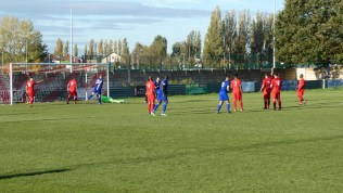 Later in the first half and Quorn muscle their way, one way or another, to score the equalising goal.