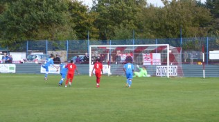 Almost full time, and AFC have tried everything the book and more. Here a penalty shot finds the net to give them the only goal of the match. Odd.