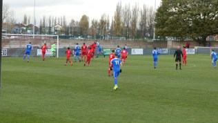 First part of the first half and South Normanton make the Wood work as they put pressure on the home goal.