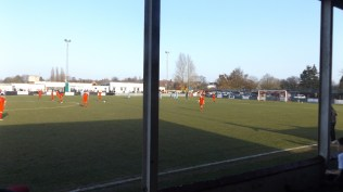 a crisp, bright afternoon with football to match with the prospect of a top quality hotdog and cup of tea at half time.