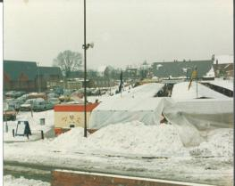 Brownhills market in snow by Gerald 2