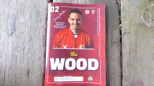 Souvenir programme to cherish. One of my favourite players to grace the Theatre of Dreams at the Wood, Craig Deakin.