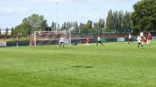 A few moments later, and the Wood come thundering back and score a superb goal, to equalise.