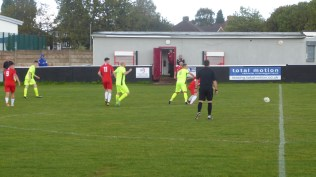 The referee was given a hard job by the visitors this afternoon.