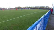 Later in the first half. A panoramic photo.., and the first goal to Walsall Wood. Always happens!