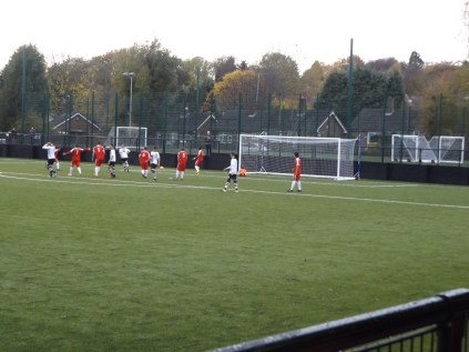 More first half pressure by Boldmere countered by strong defence by the Wood