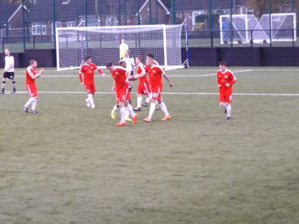 And the Wood celebrate scoring the equaliser.