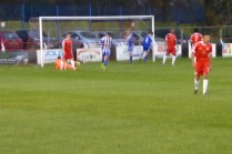 Shawbury put another goal away . Home spectators' jaws are heard hitting the floor. Socks up time, the Wood, socks up.