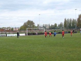 Early in the first half and a superb penalty kick save by the Wood's goalkeeper