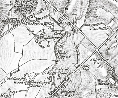 Clayhanger, from the Ordnance Survey 1834 edition
