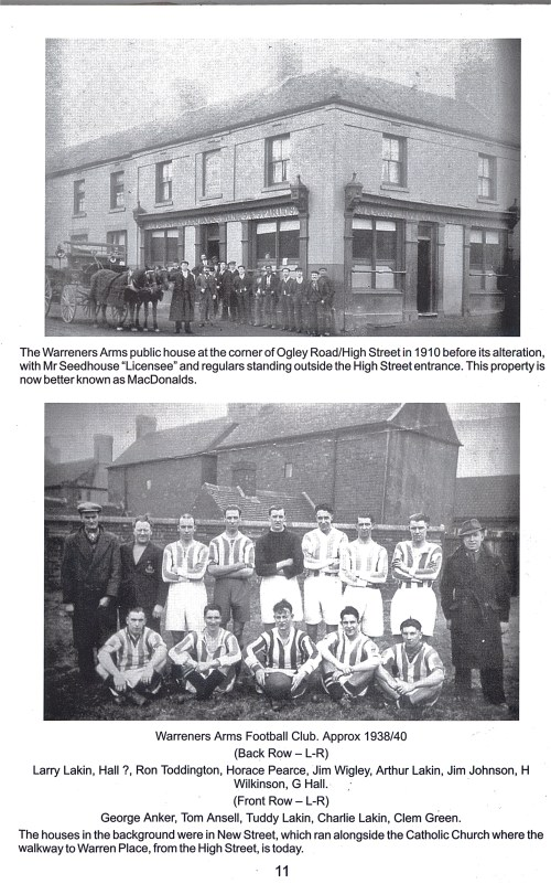 Page scanned from 'Memories of Brownhills Past' by Clarice Mayo and Geoff Harrington.