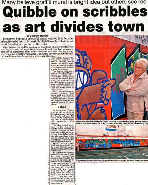 I bet Deborah Stewart is still chuckling over that headline... from the Express & Star, Thursday 3rd September 2009