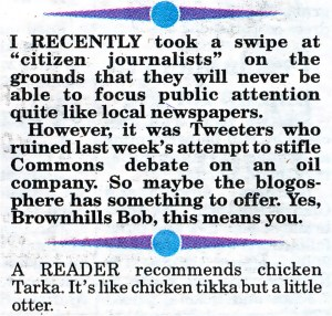Do Les Dawson's family know his joke book has been stolen? From the Express & Star, 20th October 2009