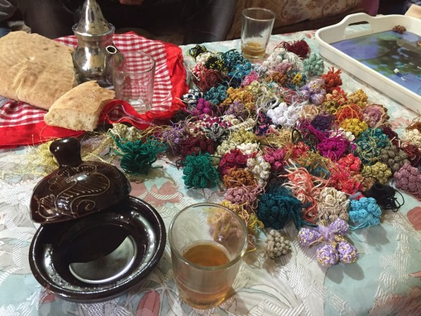 Djellaba bead bunches