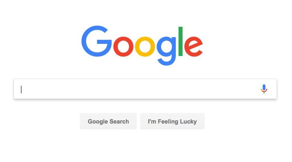 Google home page screen shot