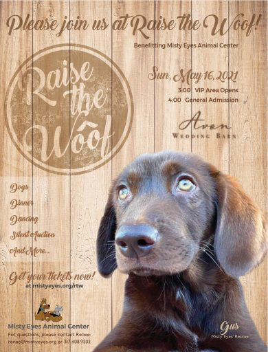 'Raise the Woof' 2021 event poster
