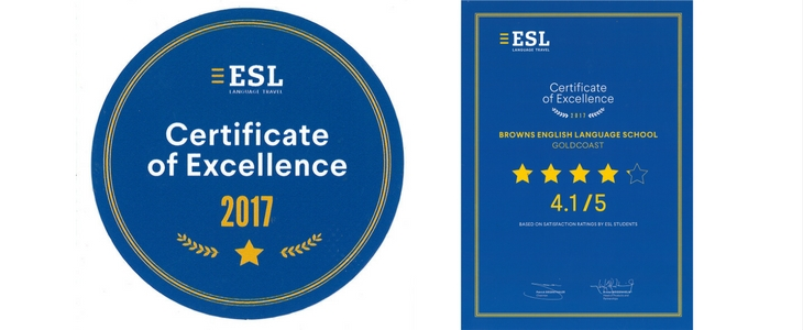 ESL Certificate of Excellence 2017