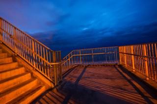 Storm clouds over Santa Monica Bay, Malibu, California,