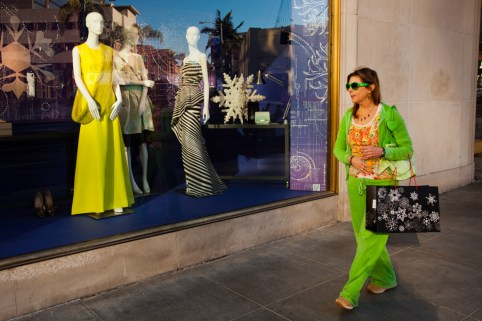 Manikins in shop window, Beverly Hills, Los Angeles, California, United States of America