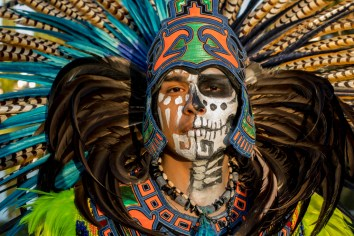 Day of the Dead festival, Hollywood Forever Cemetery, Hollywood, California, USA 10/28/17
