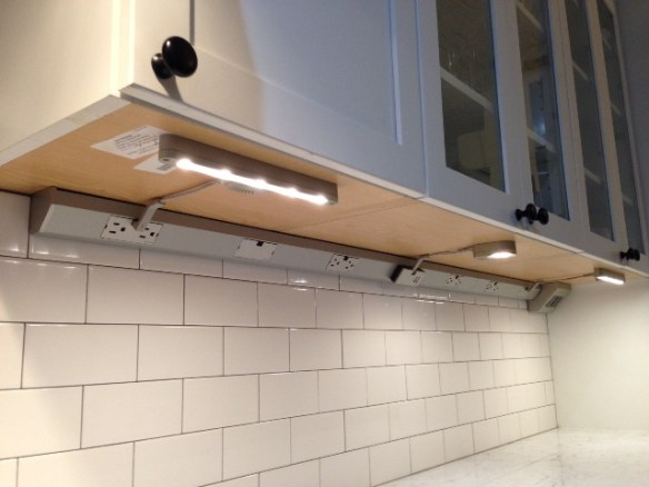 Some Finishing Touches On The Kitchen Backsplash Under Cabinet Lighting Pot Filler
