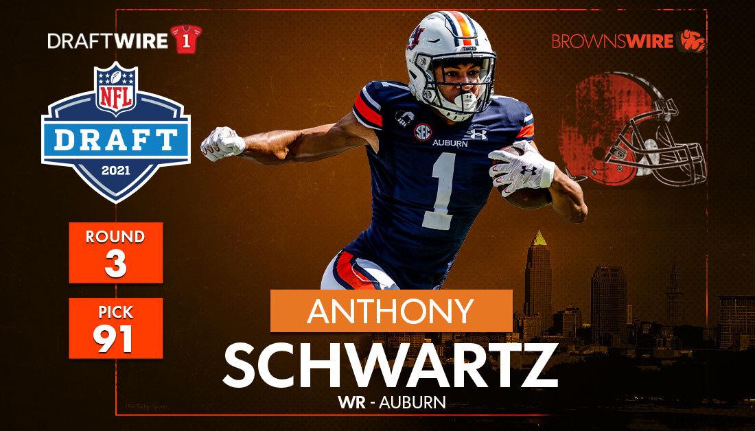 Browns select Auburn WR Anthony Schwartz in the third round