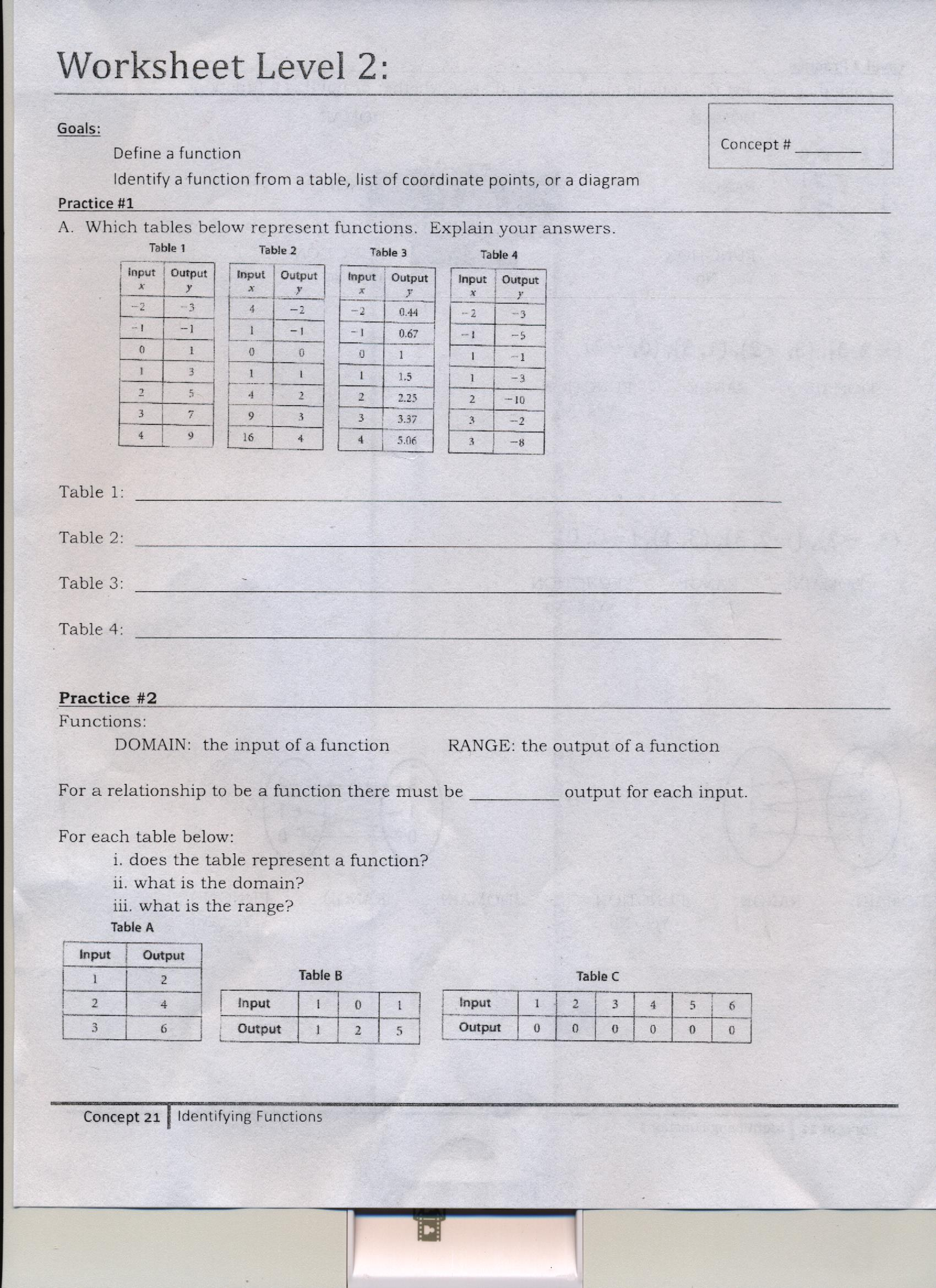 Homework Alert Please Complete The Function Worksheets We