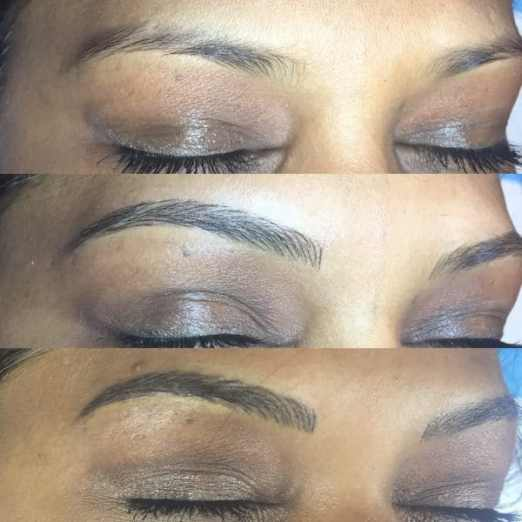 maya before and after microblading