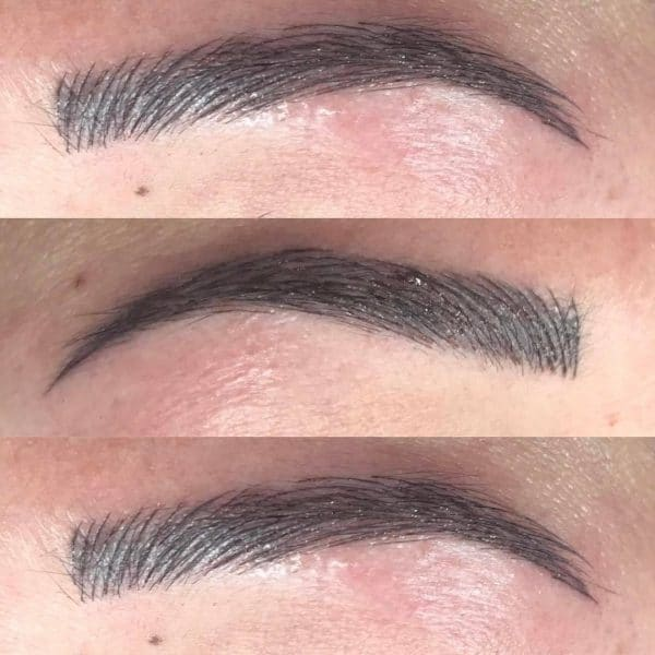 Beautiful microblading brows after picture