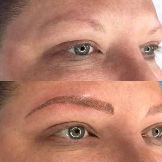 blonde microblading before and after