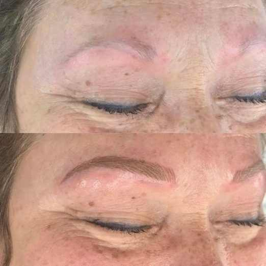 light skin microblading before and after